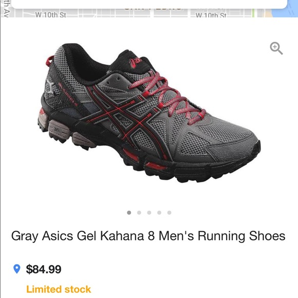 mens asics running shoes size 8